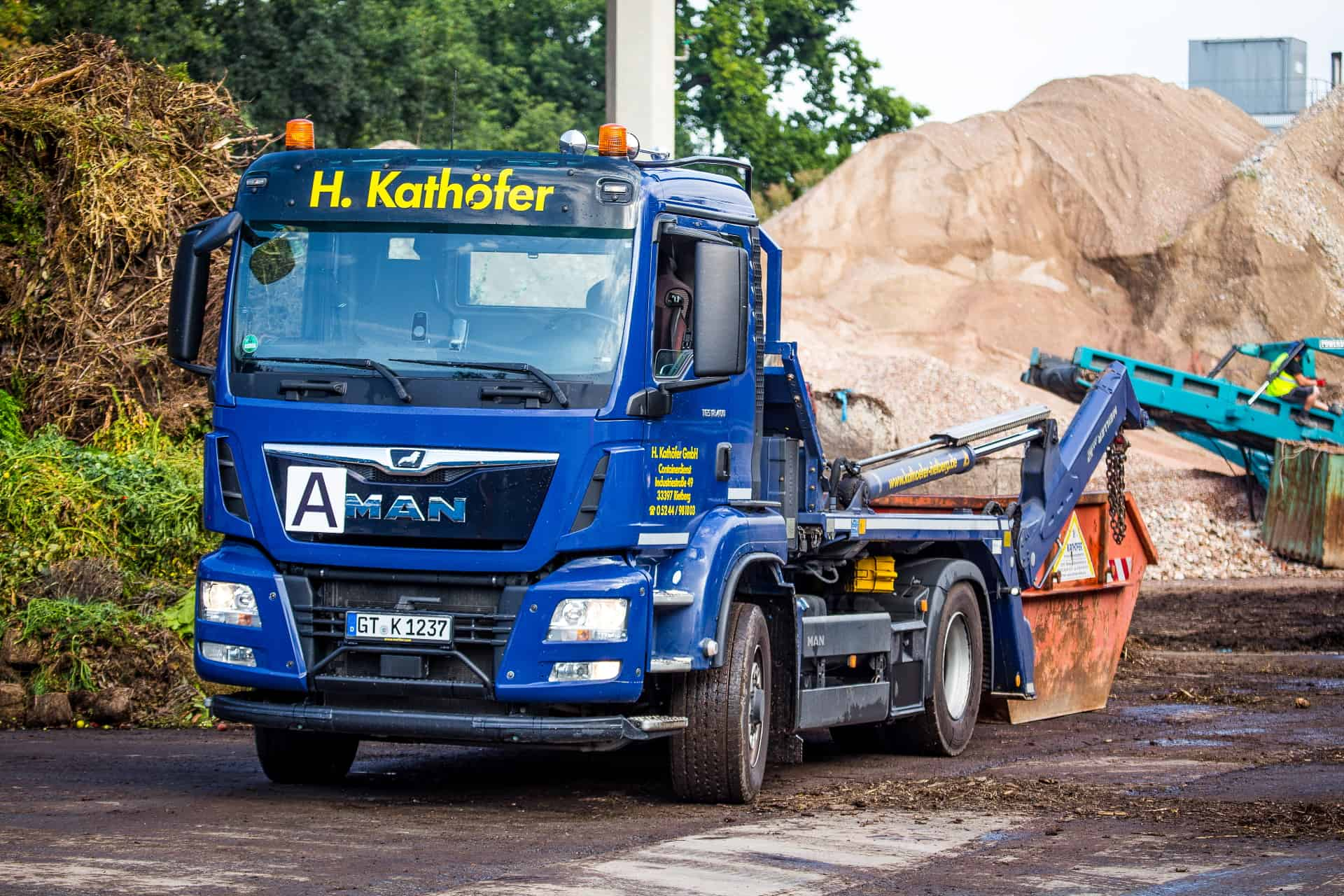 Containeranfrage Hermann Kathöfer Restmüllentsorgung Abfall Sperrmüll Baumisch Bauschutt Grünschnitt