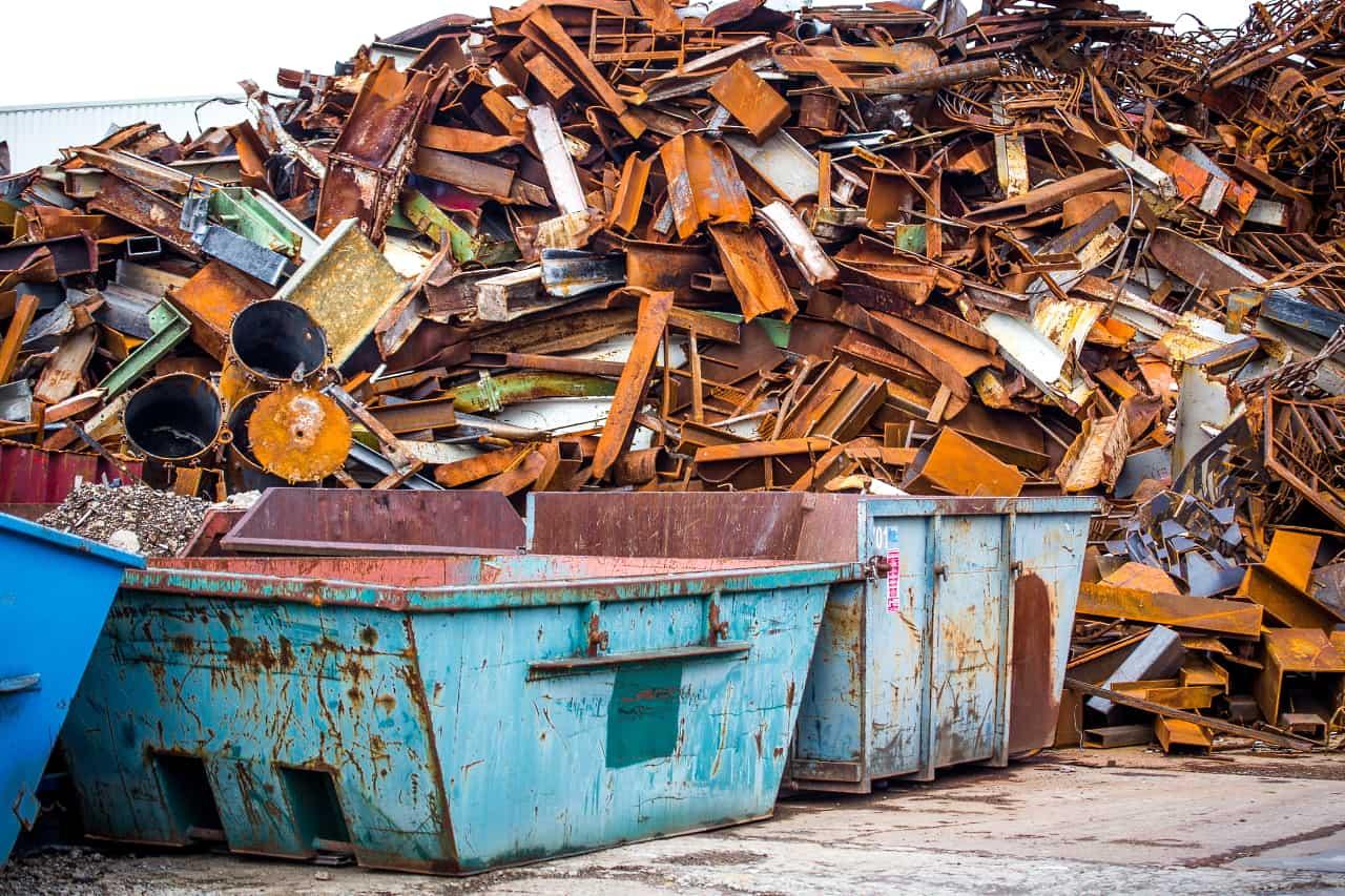 Schrott und Metall Abafallcontainer Restmüllentsorgung